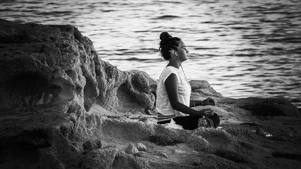 Meditation, Girl, Nature, Female, Yoga, Exercise, Relax