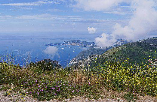 Mediterranean, Alpine, Sea ​​clouds, Ascending, Coast