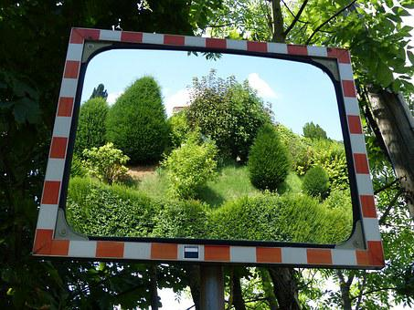 Mirror, Traffic Mirror, Reflection, Mirroring, Traffic