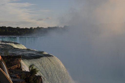 Niagara, Falls, Canada, Waterfall, Mist, Natural