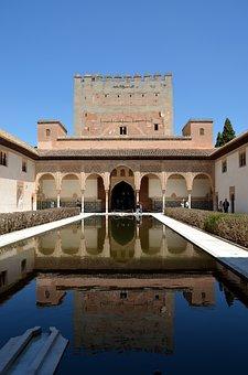 Alhambra, Mirror, Reflexes, Fortress, Moorish