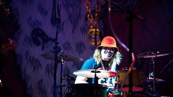 Drummer, Live Music, Stage, Music, Live, Band, Concert