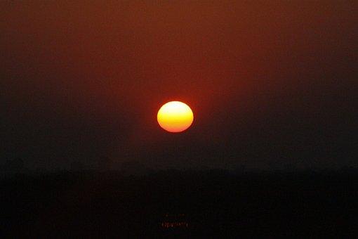 Sunrise, Dawn, Morning, Early, Nature, Sun, Orange