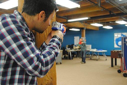 Nurf Gun, Aim, Concentration, Office Games