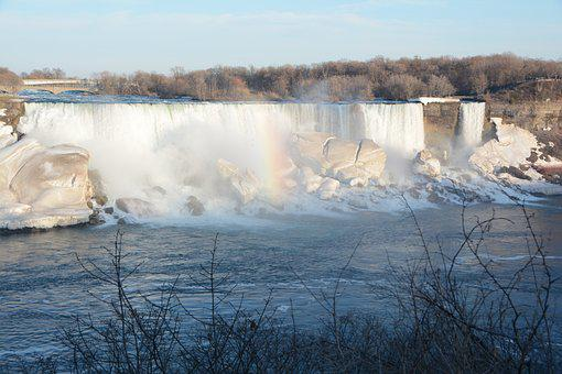 Niagara Falls, Snow, Ice, Winter, Waterfall, Ontario