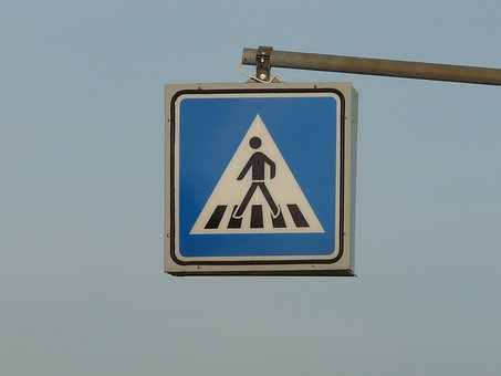 Pedestrian Crossing, Zebra Crossing, Shield