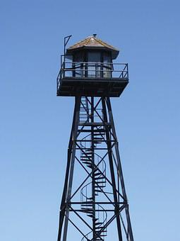 Alcatraz, Watchtower, Guard Tower, Prison