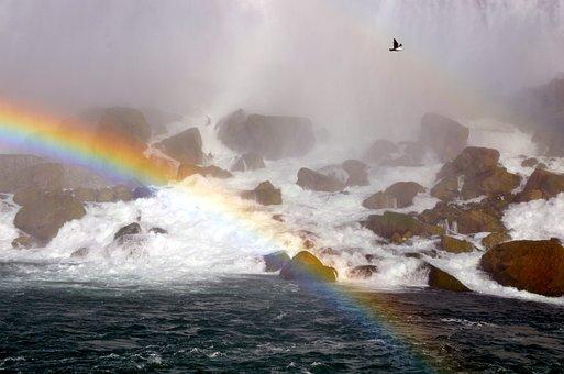 Niagara, Rainbow, Water, Canada, Falls, Nature, Ontario
