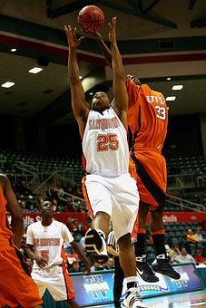 Basketball, Rebound, Action, Jumping, Sport, Ball