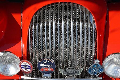 Auto, Red, Cayman Islands, Oldtimer, Sports Car