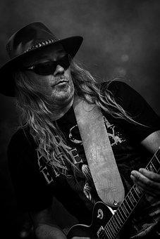 Rock N Roll, Black Roses, Guitar, Artist, Rock, Music