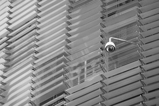 Security, Camera, Black And White, Surveillance