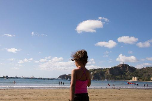 Watching, Sky, Beach, Sea, Ocean, San Juan Del Sur
