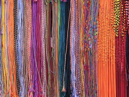 Beads, Sri Lanka, Multi-colored, Strings, Coloured, Gem