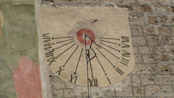 Sundial, Now, Winter Time, Sun, Switzerland