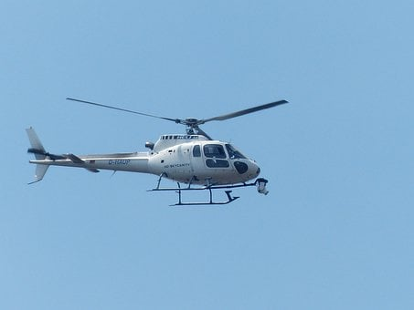 Helicopter, Surveillance Camera, Camera, Monitoring