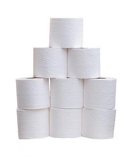 Toilet Roll, Toilet Rolls, Toilet Tissue, White, Tissue