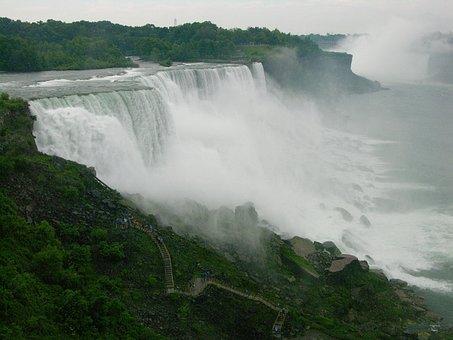 Niagara, Waterfall, Nature, Landmark, American, Tourism