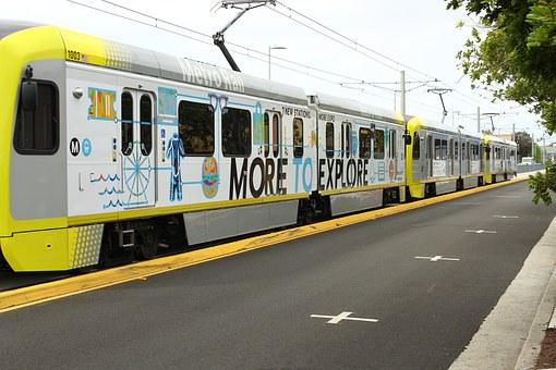 Train, Santa Monica, California, Travel, Los, Angeles