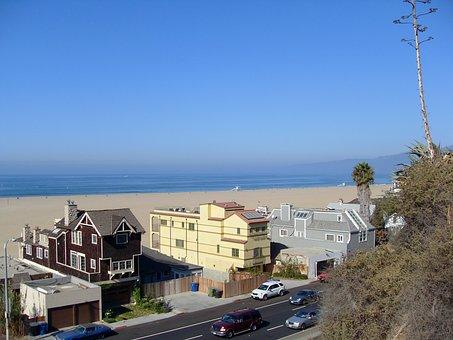 Usa, California, Beach, Santa Monica, Los Angeles