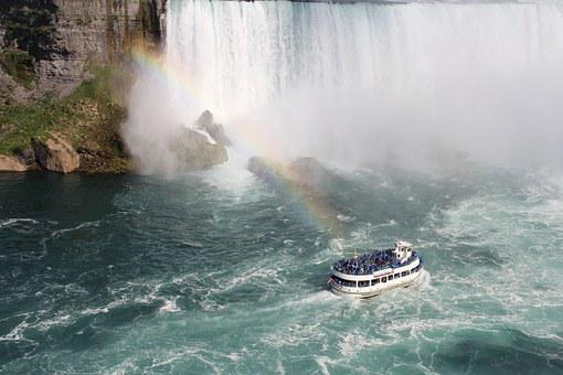 Niagara Falls, Canada, Waterfall, Niagara, Water, River