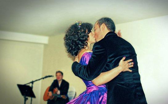 Couple, Wedding, Marriage, Love, Dance, Music, Bride