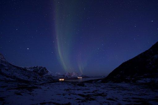 Aurora, Light, Night, Northern Lights, Norway