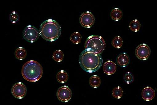 Soap Bubbles, Colorful, Mirroring, Float, Balls