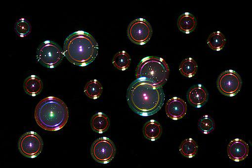 Soap Bubbles, Colorful, Mirroring, Float, Balls