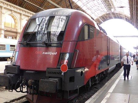 Railjet, Locomotive, Budapest