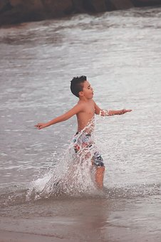 Playing, Summer, Outdoor Activity, Fun, Happy, Child