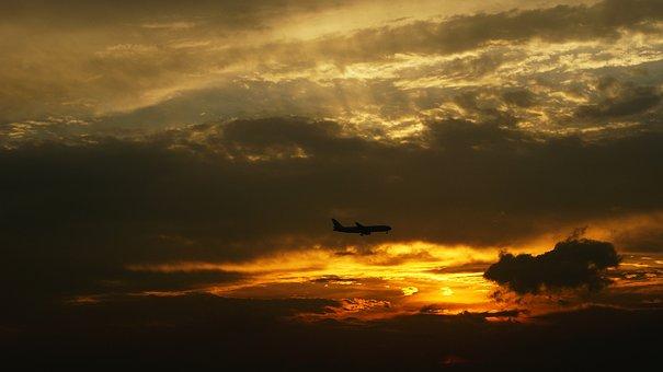 Sunset, Choi, Aircraft, Guangzhou China