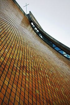 Tokai University, Church, Glazed Tile, Building, Modern