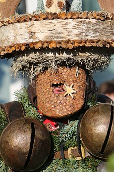 Silvesterchlaus, Mask, Clamps, Holzhut, Appenzell
