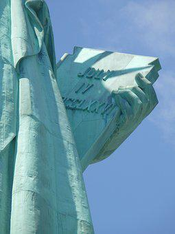 Close Up Image Of Lady Liberty, Lady Liberty Close Up