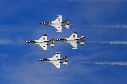 Wings Over North Georgia, Thunderbirds, Jets, F-16, Sky