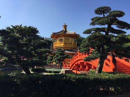 Golden Pavilion, Tang Dynasty, Garden, Hongkong