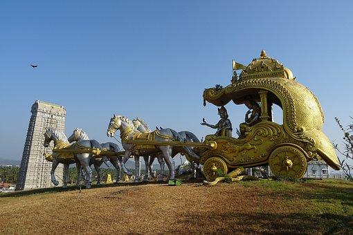 Gopuram, Chariot, Krishna, Gopura, Temple, Tower