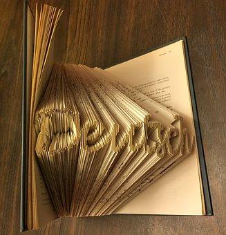 Lettering, Book, Folding, Word, Art, 3d, Pages, Deutsch