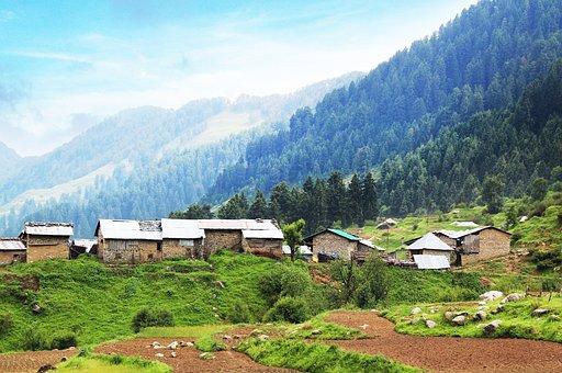 Raj Gunda, Village, Mountains, Mountain Village