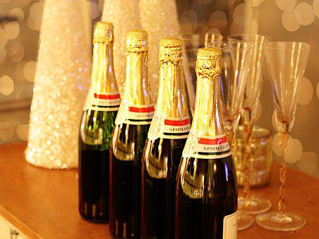 Champagne, Champagne Toast, New Years Eve, New Year