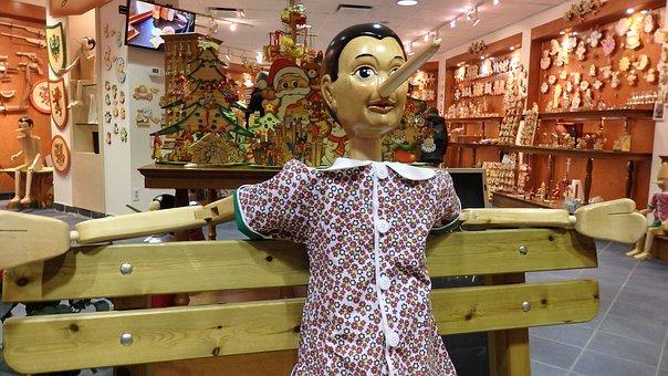 Pinocchio, Figurine, Wooden, Puppet