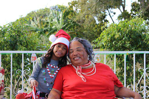 Grandmother, Granddaughter, Christmas, Xmas, Red, Shirt