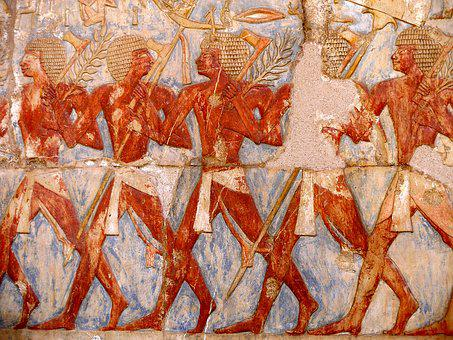 Deir El Bahari, Hatsepsut, Egypt, Relief, Travel