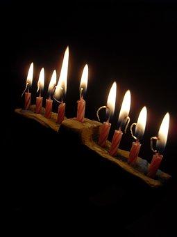 Hanukkah, Spend, Light, Lights, Religion, Candlestick