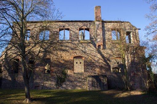 Castle, Ruin, Masonry, Middle Ages, Three Oak Grove