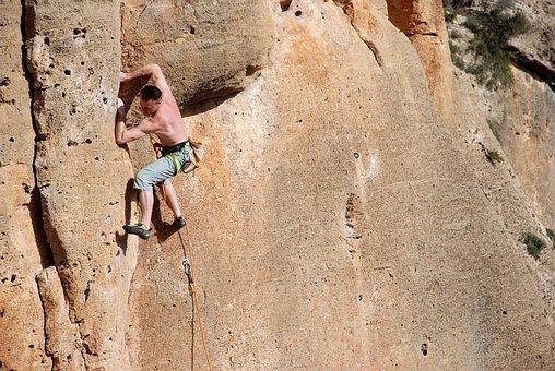 Climbing, Rope, Rocks, Spain, Montesa, Espania