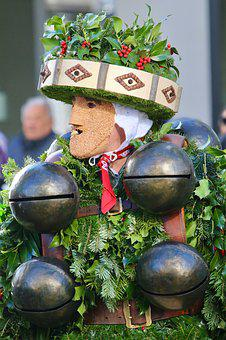 Silvesterchlaus, Mask, Clamps, Holly, Tradition
