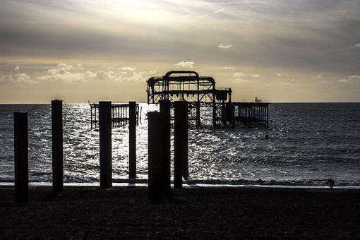 Brighton, West Pier, East Sussex, Uk, Seafront, Sussex