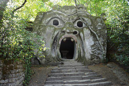 Bomarzo, Forest, Monsters, Viterbo, Mouth, Truth, Italy